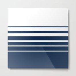 White blue striped pattern . Metal Print