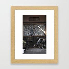 Japanese dragon water spout Framed Art Print