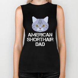 American Shorthair Dad Biker Tank