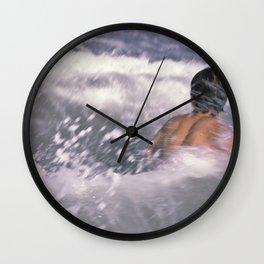 Brian swimming in the sea Wall Clock
