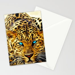 A blue eyes African tiger Stationery Cards