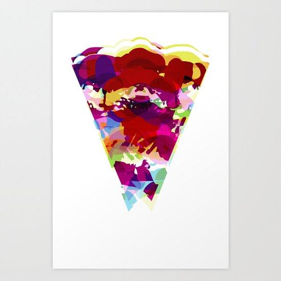 Acid Pizza Art Print