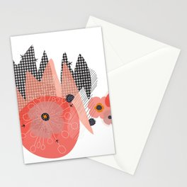 Cactus Abstract Minimalism Stationery Cards