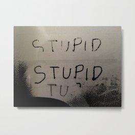 stupid Metal Print