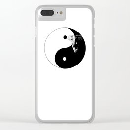 The YIN YANG ELEFANT - LIFE CURRENT series... Clear iPhone Case