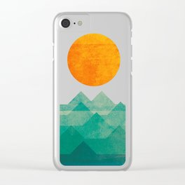 The ocean, the sea, the wave - night scene Clear iPhone Case