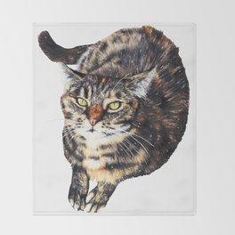 Kitty Cat Chili Throw Blanket