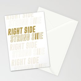 RIGHT SIDE STRONG SIDE (gold) Stationery Cards
