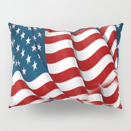 "ORIGINAL  AMERICANA FLAG ART ""STARS N' BARS"" PATTERNS Pillow Sham"