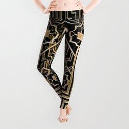 Art Nouveau Metallic design Leggings