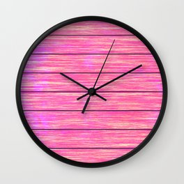 Pink wood board Wall Clock