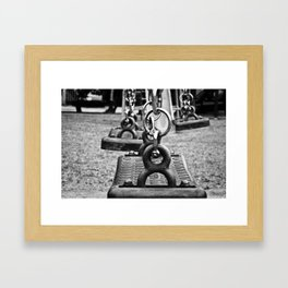 Come out and play Framed Art Print