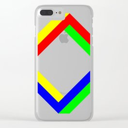 Penrose Square Rotate 45 Clear iPhone Case