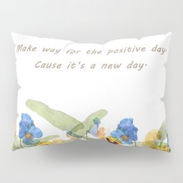 Watercolor pansy flowers Pillow Sham