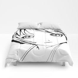 JP anime girl by ilya konyukhov Comforters