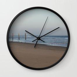 Beach Fence Wall Clock