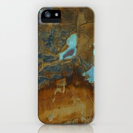 Blue Lagoons in Rusty World iPhone Case