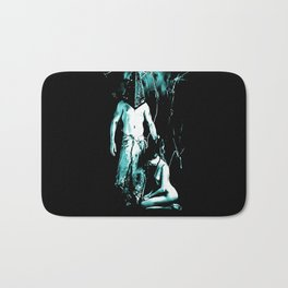 Welcome to Silent Hill - Pyramid Head, sexy erotic nude, cartoon in green tones, submissive girl Bath Mat