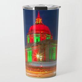San Francisco City Hall Holiday Light 2 Travel Mug