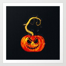 Escape From The Pumpkin Patch Art Print