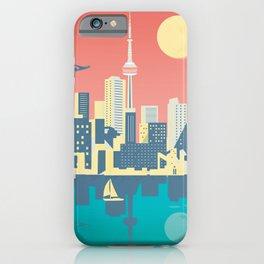 Toronto City Skyline Art Illustration - Cindy Rose Studio iPhone Case