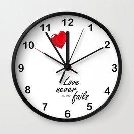 1 cor 13,8 Wall Clock