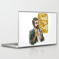 treat yo self Laptop & iPad Skins featuring Treat yo self! by Tiffany Willis