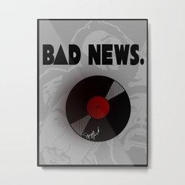 B: BD NEWS. Metal Print