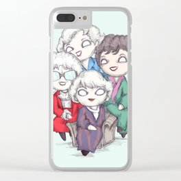 Plushie Girls Clear iPhone Case