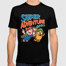 Super Adventure Bros LARGE Mens Fitted Tee Black
