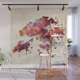 Hong Kong map Wall Mural