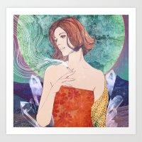 diamonds Art Prints featuring Diamonds by Ryan Haran