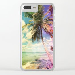 Prismatic Palm Clear iPhone Case