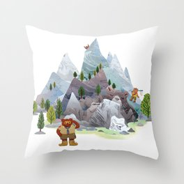 Bear troop Throw Pillow