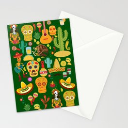 Fiesta Time! Mexican Icons Stationery Cards