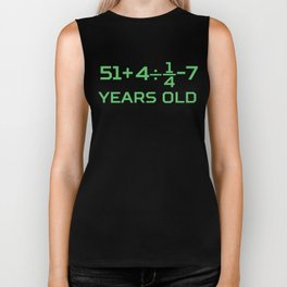 60 Years Old Math Equation Funny 60th Birthday Biker Tank