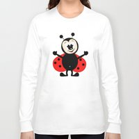 ladybug Long Sleeve T-shirts featuring Ladybug by Digital-Art