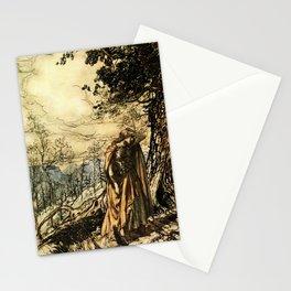 """""""Brunhilde Dazed and Alarmed"""" by Arthur Rackham Stationery Cards"""
