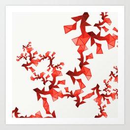 Red Geometric Art Print