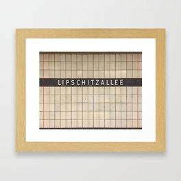 Berlin U-Bahn Memories - Lipschitzallee Framed Art Print