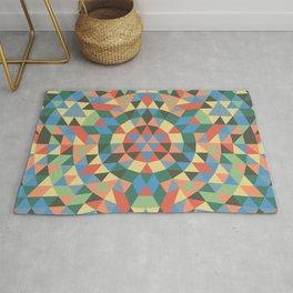 Triangle Kaleidoscope Mandala Rug