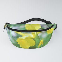 Yellow Iris Flower by Reay of Light Fanny Pack