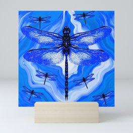 DRAGONFLY BLUE AGATE Mini Art Print
