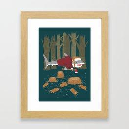 LumberJack Shark Framed Art Print