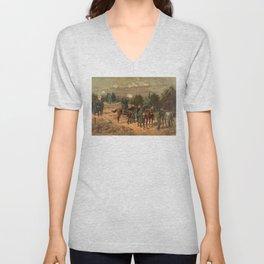 Civil War Battle of Chattanooga by Thulstrup Unisex V-Neck