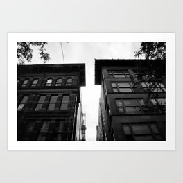 City Alleys Art Print