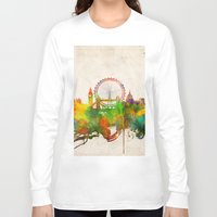 london map Long Sleeve T-shirts featuring London  by Bekim ART