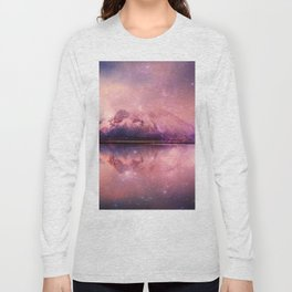Reflections of Time - mountains and lakes Long Sleeve T-shirt