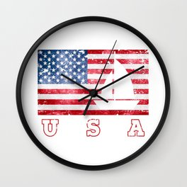 USA Sailing - Flag of America Wall Clock