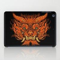 foo fighters iPad Cases featuring Foo Dog by missmonster